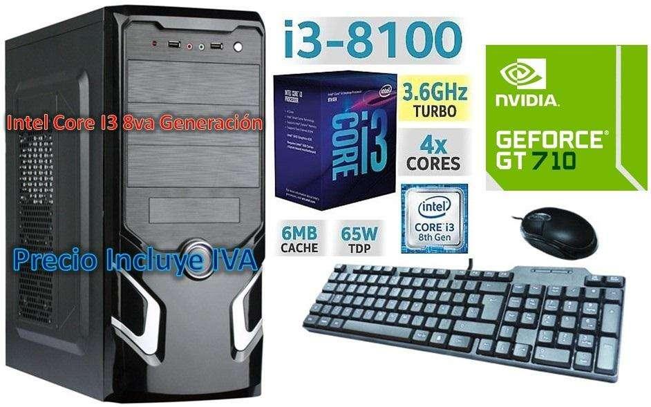 Computadora Intel Core I3 8va 1tb 4gb GT710 2GB Cpu I5 I7 PRECIO INCLUYE IVA ENTREGA A DOMICILIO