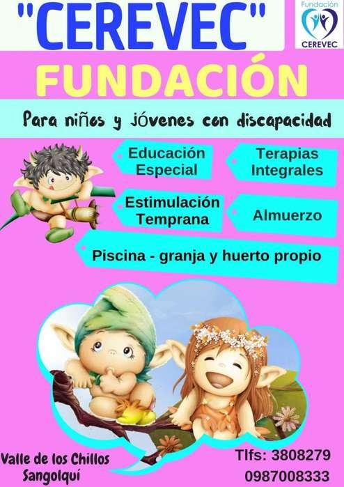 FUNDACIÓN - GUARDERIA Para niños y jóvenes con Discapacidad - 0987008333 - Valle de los Chillos