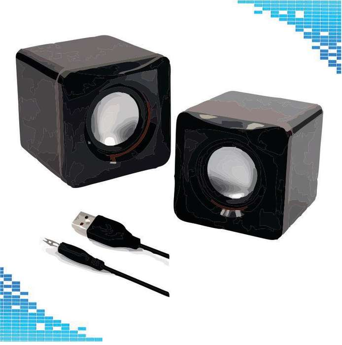 *** Parlantes para PC 3,5 Mm Usb 2.0 Power Pc Ordenador Mini Altavoz