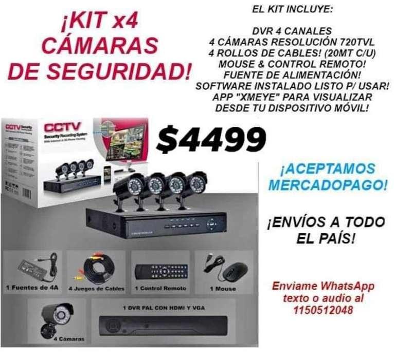 Kit X4 Cámaras de Seguridad