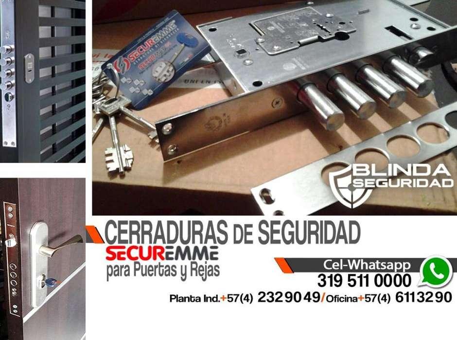 CERRADURAS DE SEGURIDAD PARA REJAS Y PUERTAS, CHAPAS DE ALTA SEGURIDAD SECUREMME, NUEVAS