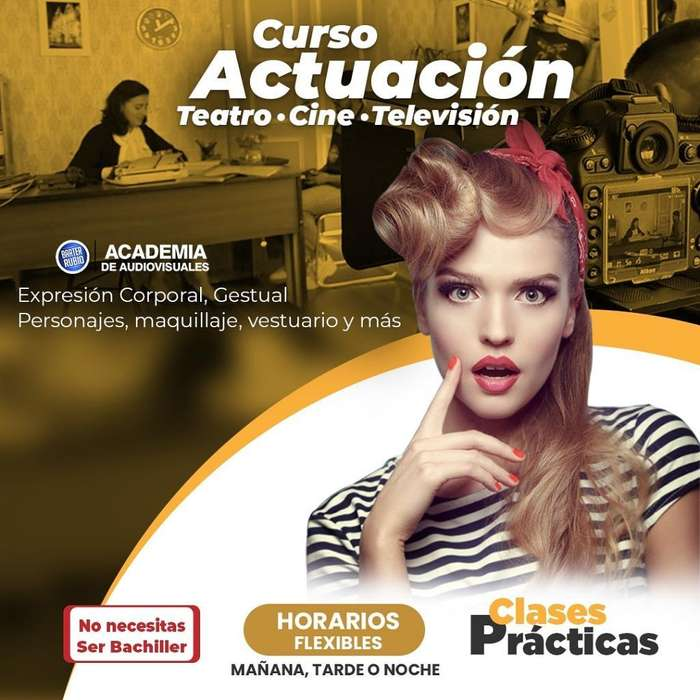 Curso de Actuación para Cine Teatro Y Tv