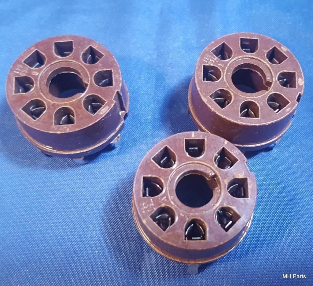 Toma de tubo de 8 pines Plastic Original USA NOS