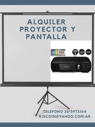 Alquiler de Proyector Y Pantalla, Micróf