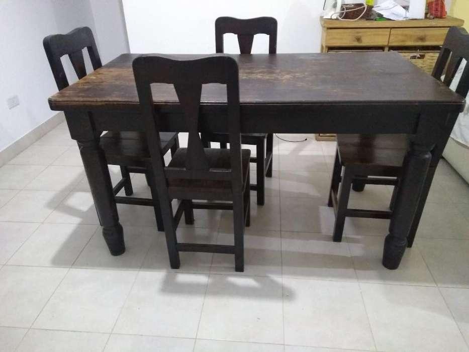 Vendo Juego de Mesa Mas 4 <strong>sillas</strong> Roble