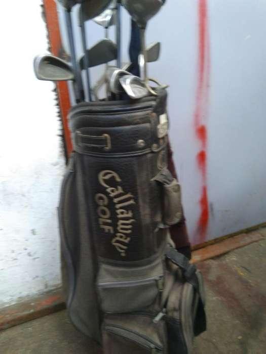 Palod de <strong>golf</strong> con Estuche de Cuero