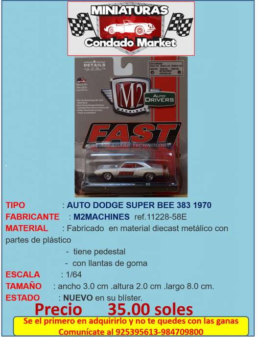 AUTO DODGE SUPER BEE 383 1970