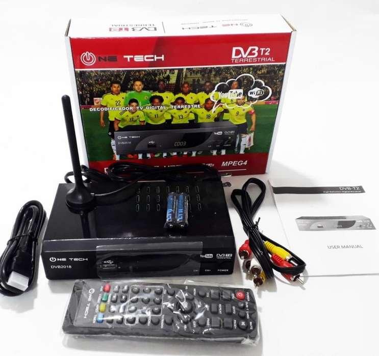 decodificador tdt para tv one tech con wifi para youtbe