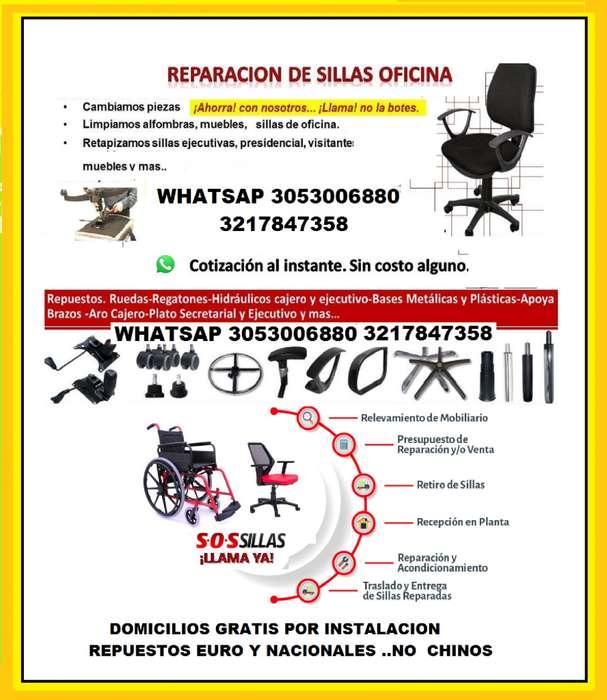 REPARACION DE TODO TIPO DE <strong>silla</strong>S DE OFICINA, GIRATORIAS, FIJAS, INTERLOCUTORAS,