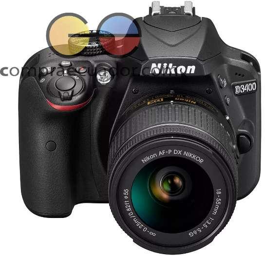 Nikon Cámara Profesional D3400 24.2 Mp Fullhd Iso 10025600