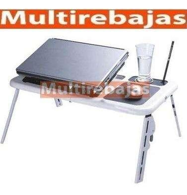 Mesa Para Laptop Plegable, Con Ventilador Y Accesorio