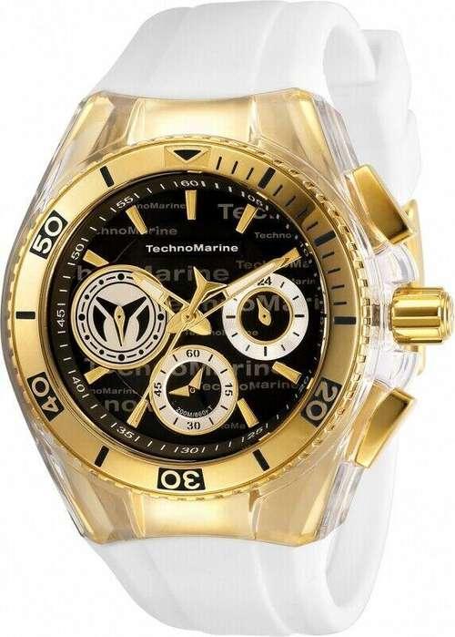 Reloj Mujer Technomarine Cruise Dorado Dial Negro 118134