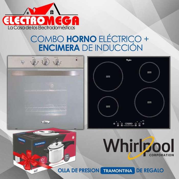 Combo Whirlpool Horno Electrico Y Encimera Plancha de Induccion 220v
