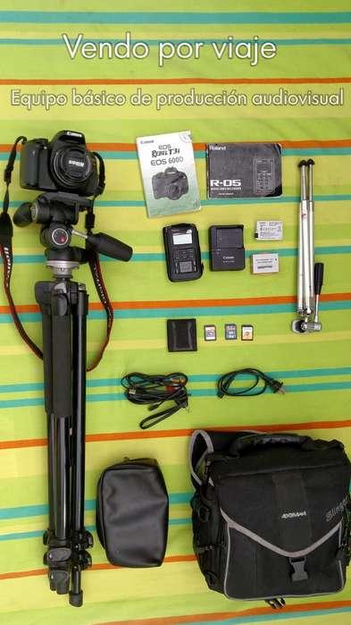 Cámara Canon T3i 600D Accesorios de producción audiovisual