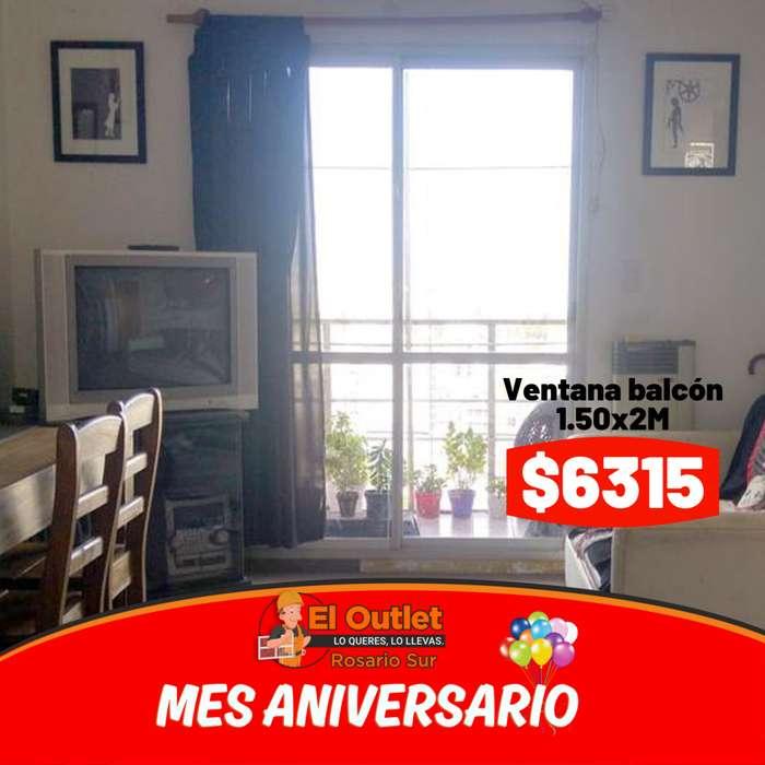 ventana balcon 150x200