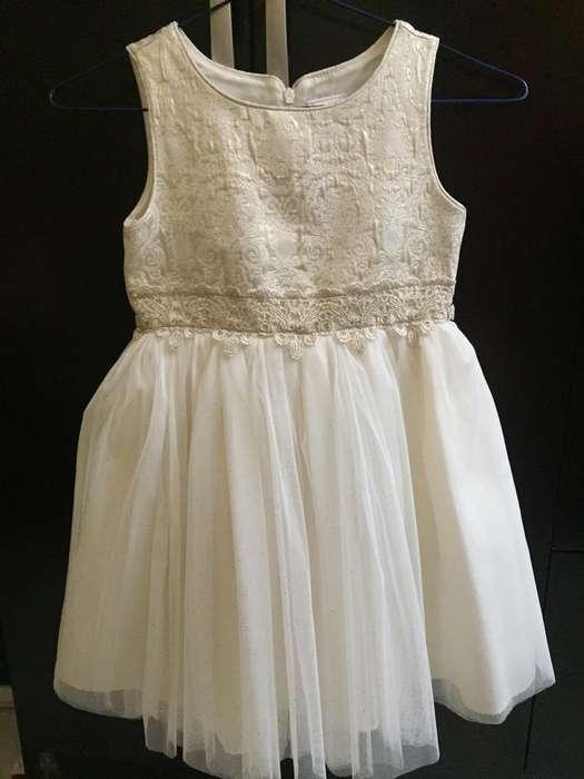 Elegante Vestido en Color Perla T-6