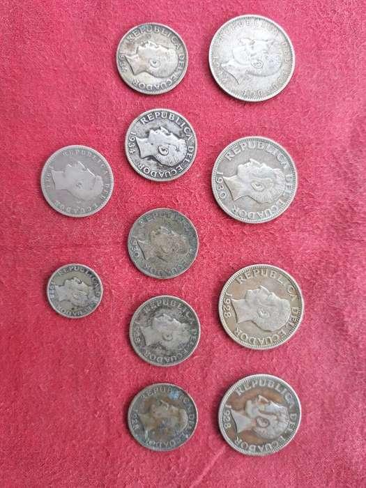Monedas de Plata de 2,1 Cucre 50 Centavo