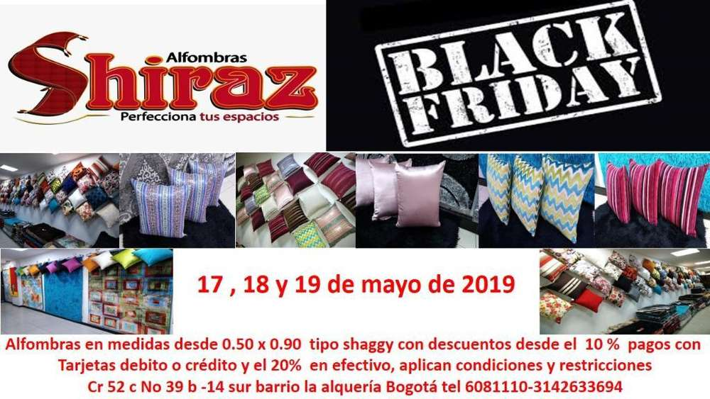 Black Friday <strong>alfombra</strong>s