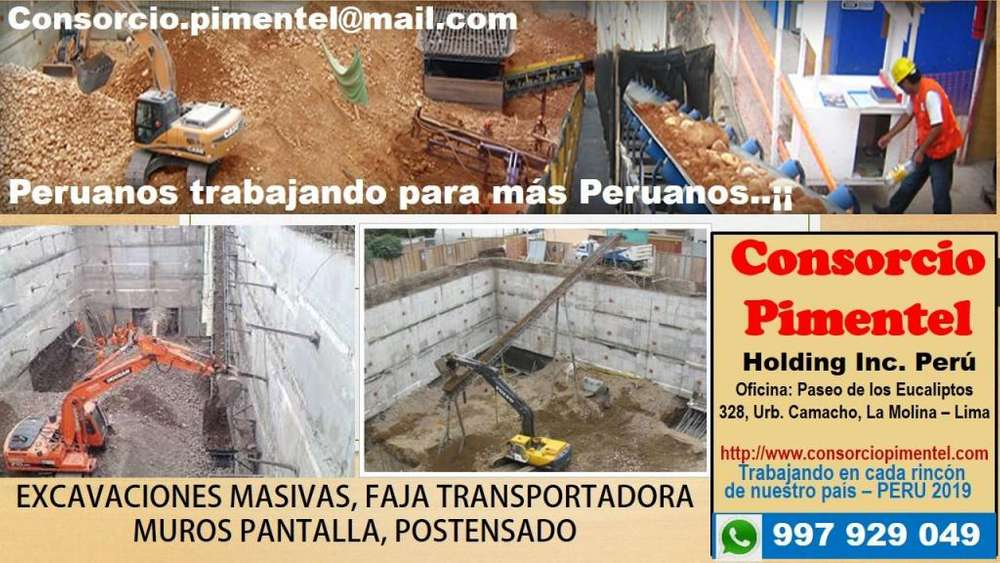 Alquiler Excavadoras Rodillos Motoniveladoras Perú