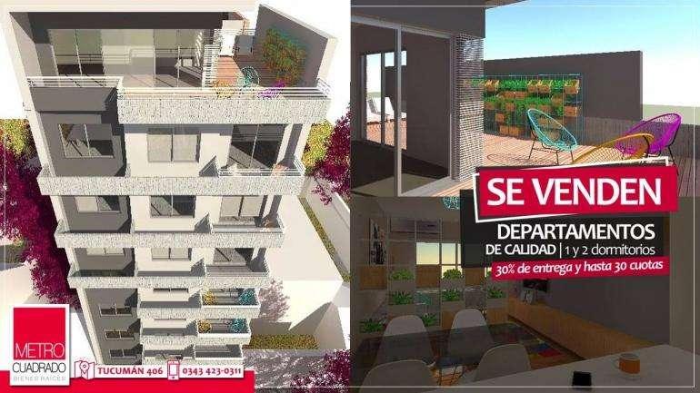 SE VENDEN EN CONSTRUCCION monoambientes y departamentos de 1 y 2 habitaciones sobre calle Maipu 550