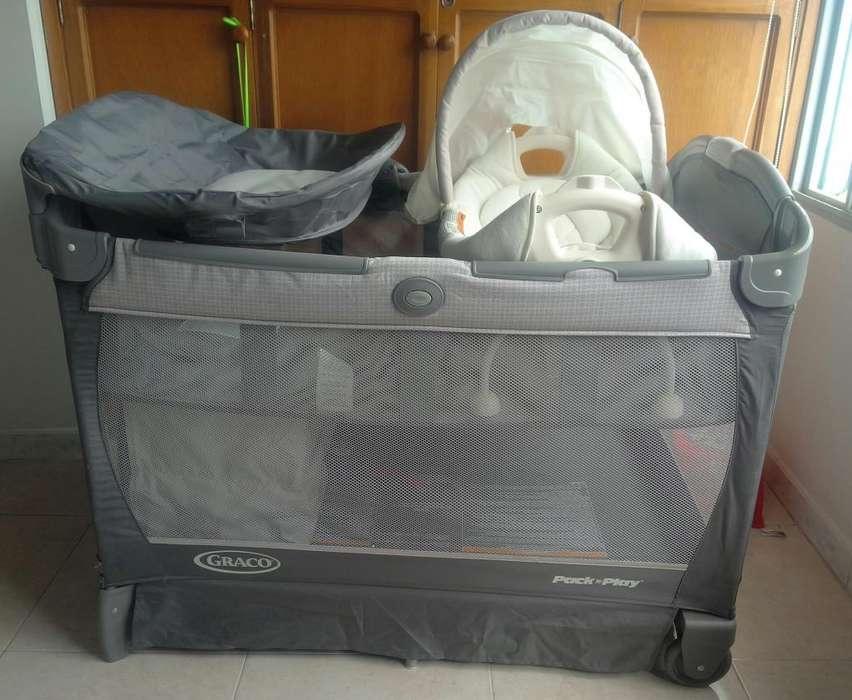 CUNA CORRAL GRACO Graco pack corral con cuddle cove asiento removible