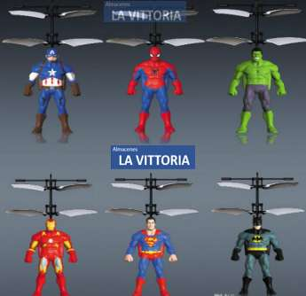 Helicóptero De Super Héroes Fácil Manejo Niños con Sensor