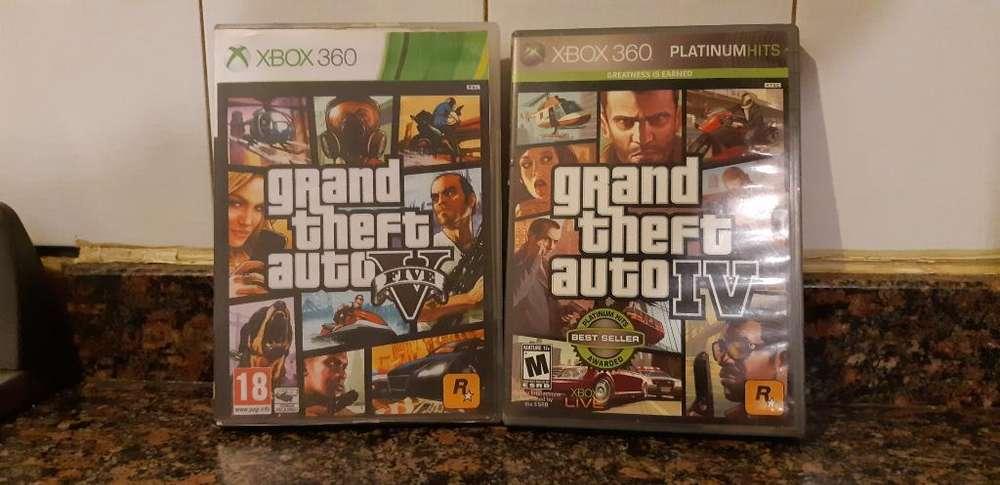 Gta 5 Y Gta 4 de Xbox 360