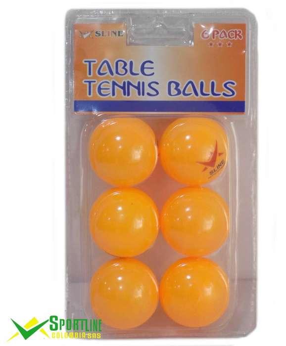 Set de bolas de ping pong X 6