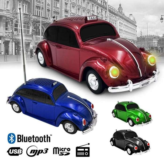 Parlante Bluetooth Volkswagen Escarabajo Clásico USB MP3 FM 1939