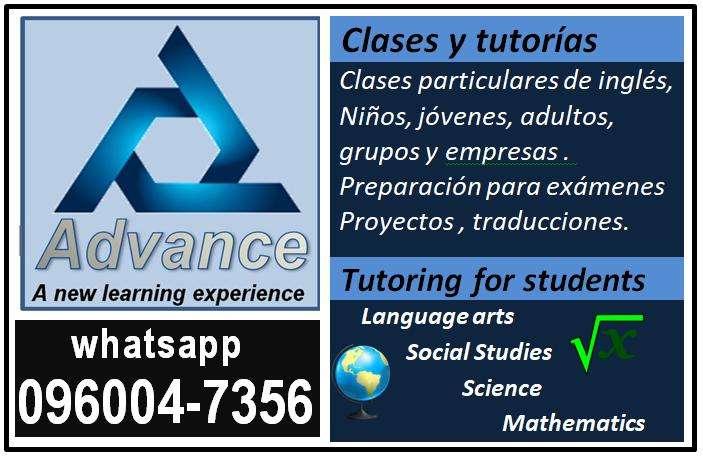 Clases particulares y tutorias en Inglés