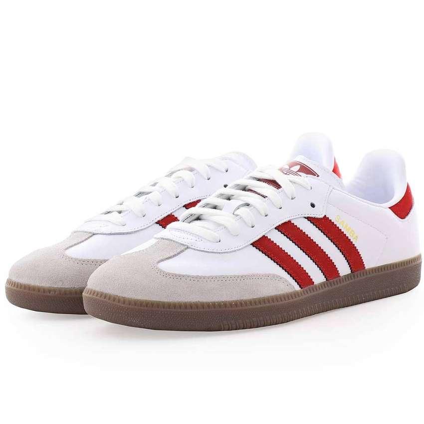 Blancas Adidas Samba lineas rojas Zapatillas Ropa con y kZTOiuXP