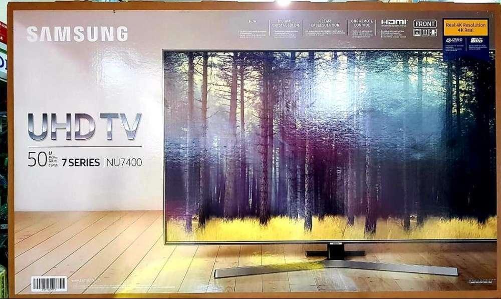 Samsung 50 nu7400 serie 7 4k Comando De voz Y Bluetooth