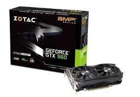Placa de video GTX 960 zotac amp 2gb