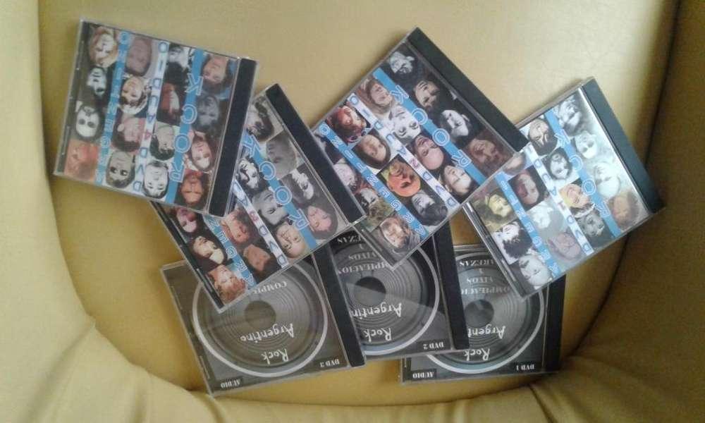 VENDO 7 DVD'S de audio Rock Nacional (430 discos) por 700