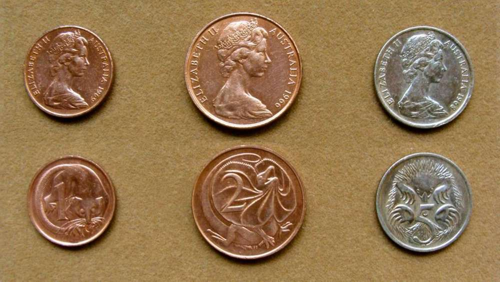 Moneda de 1 cent, Australia 1969