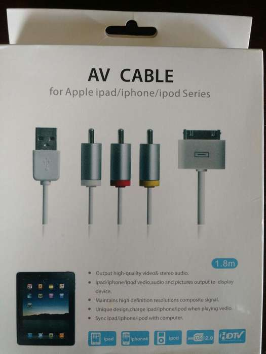 Cables de Conección para Apple iPad Tel