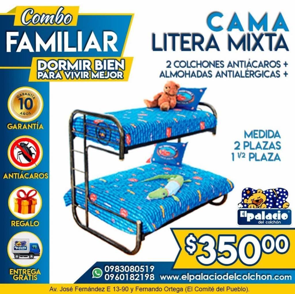 !!*PROMOCIONES*!! Literas Metálicas // Litera De Madera TODA MEDIDA *ENTREGA GRATIS ¡¡*LLAME EL PALACIO DEL COLCHÓN