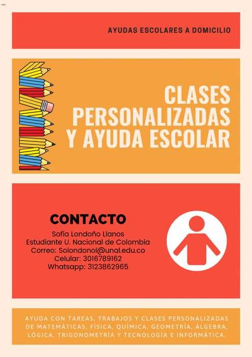 CLASES PERSONALIZADAS A DOMICILIO PARA ESTUDIANTES ESCOLARES