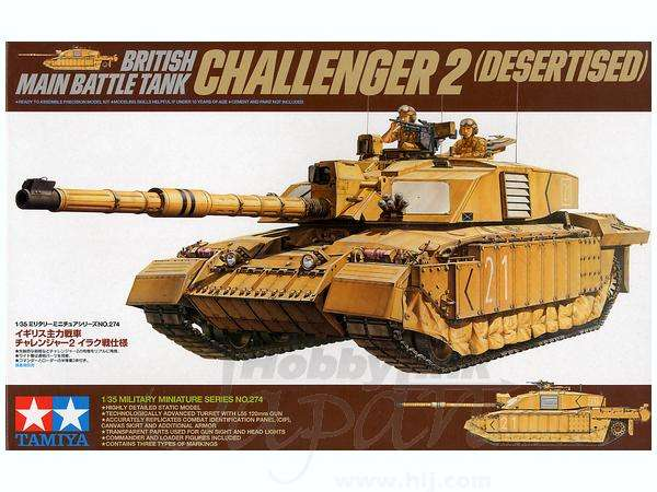 Tamiya 1/35 Tanque Challenger 2 desertizado