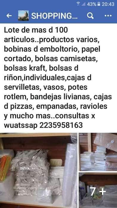 GRAN OFERTA !!!! LOTE DE ENVASES DESCARTABLES !!!!