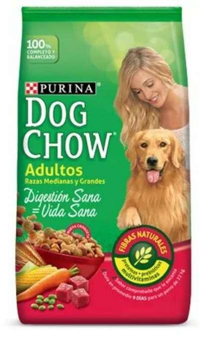 ENVIOS ZONA NORTE GRATIS Dog Chow Adulto Raza Med Y Gr X 21 Kg