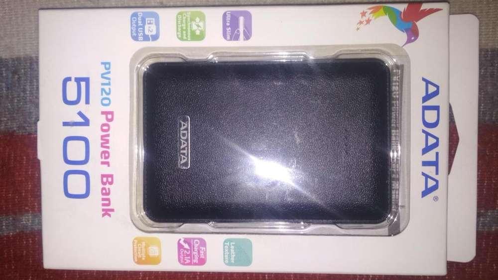 <strong>bateria</strong> Banco De Poder Adata Pv120 5100mah 2ptos Usb