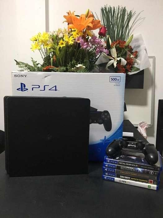 PS4 SLIM 6 juegos