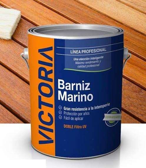 Barniz Marino Victoria con doble filtro solar X 4 Lts.