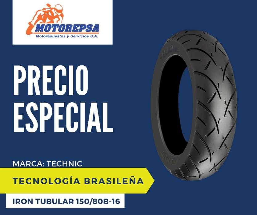 <strong>llanta</strong> TECHNIC IRON TUBULAR 150/80B 16 para Moto HARLEY DAVIDSON 883, Sportster XL 1200