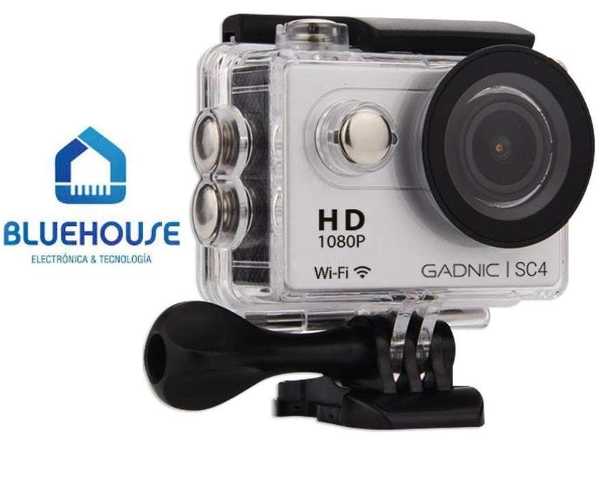 Cámara Deportiva Gadnic SC4 Full HD 1080p 12 Mpx C/ accesorios