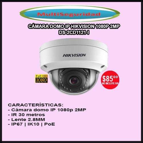CÁMARA DOMO IP HIKVISION 1080P DS2CD1121I 2MP 30M IK10 PoE ANTIVANDÁLICA