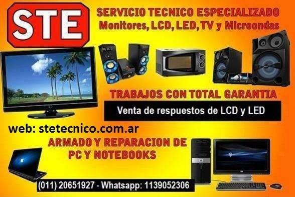 STE Servicio Técnico de TV LCD y LED PC Not Netbook Whastapp 11 39052306