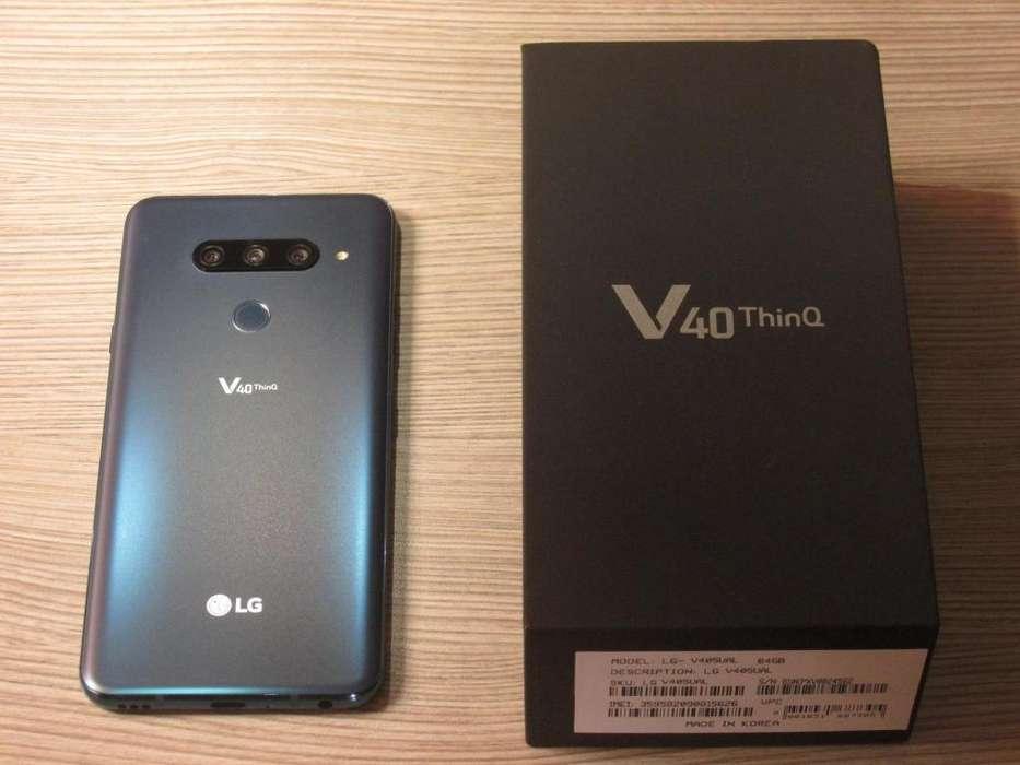 Exclusivo Lg V40 ThinQ Azul Como Nuevo
