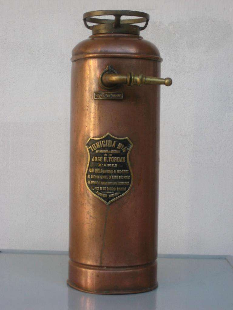 Matafuegos - Extintor, Antiguo de  cobre y bronce